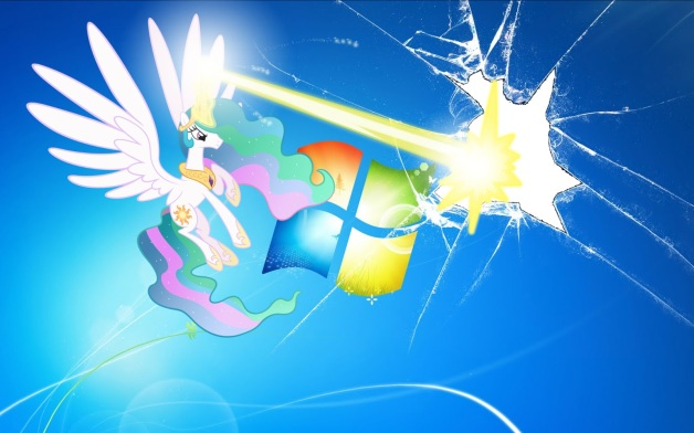 Princess Celestia Wallpaper Blasts The Screen By Nestordc Derpy Hooves Broke Your